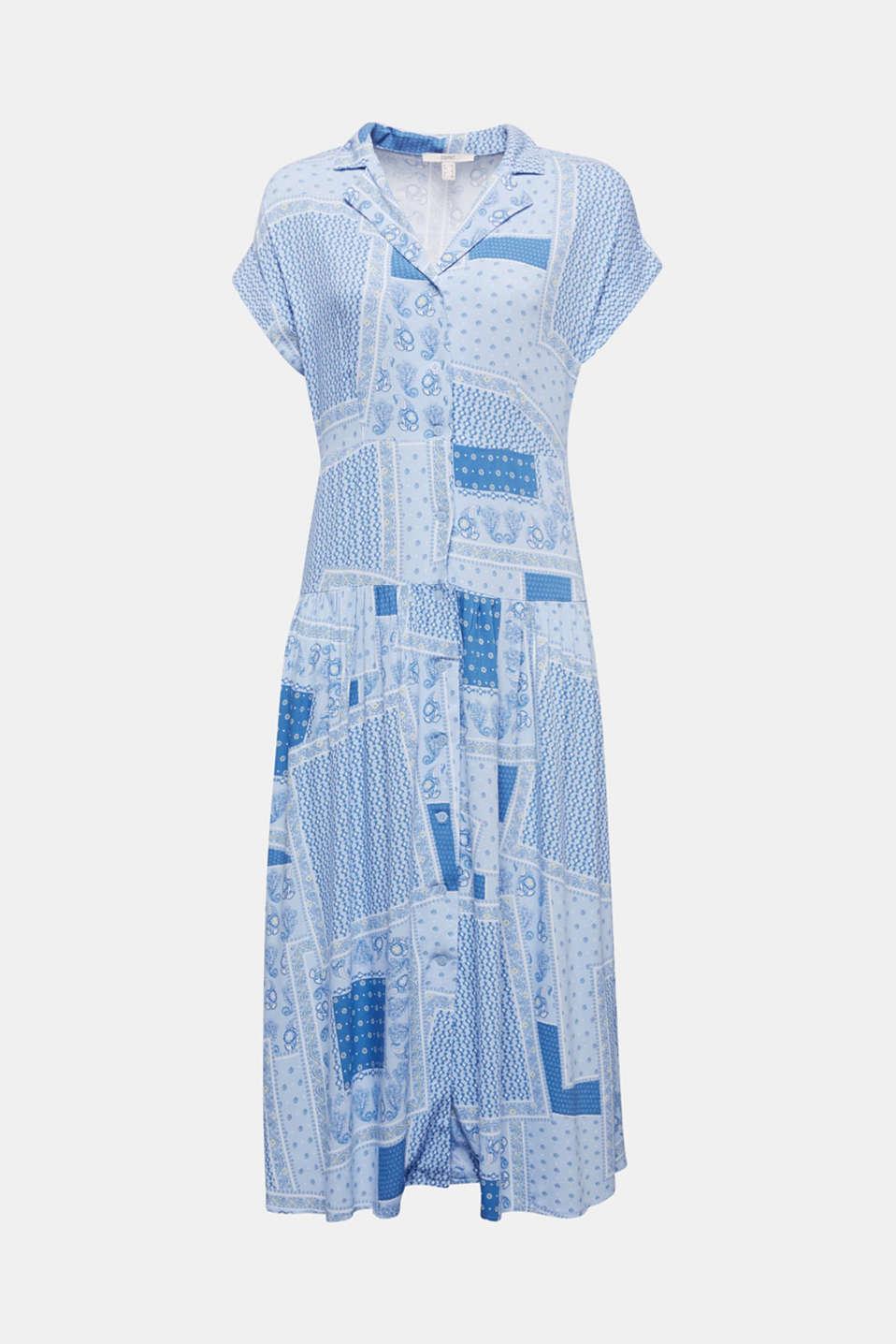 Shirt dress with bandana print, LIGHT BLUE 4, detail image number 7