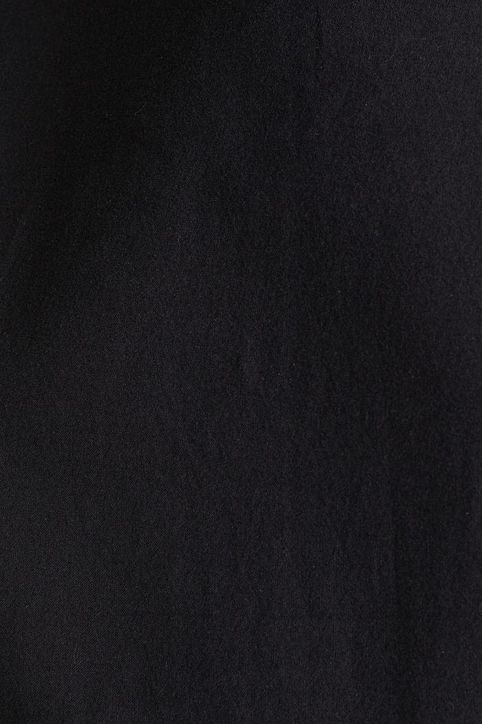 Robe en coton à patte de boutonnage, BLACK, detail image number 5