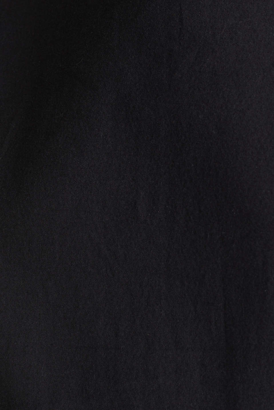 Cotton dress with a button placket, BLACK, detail image number 5