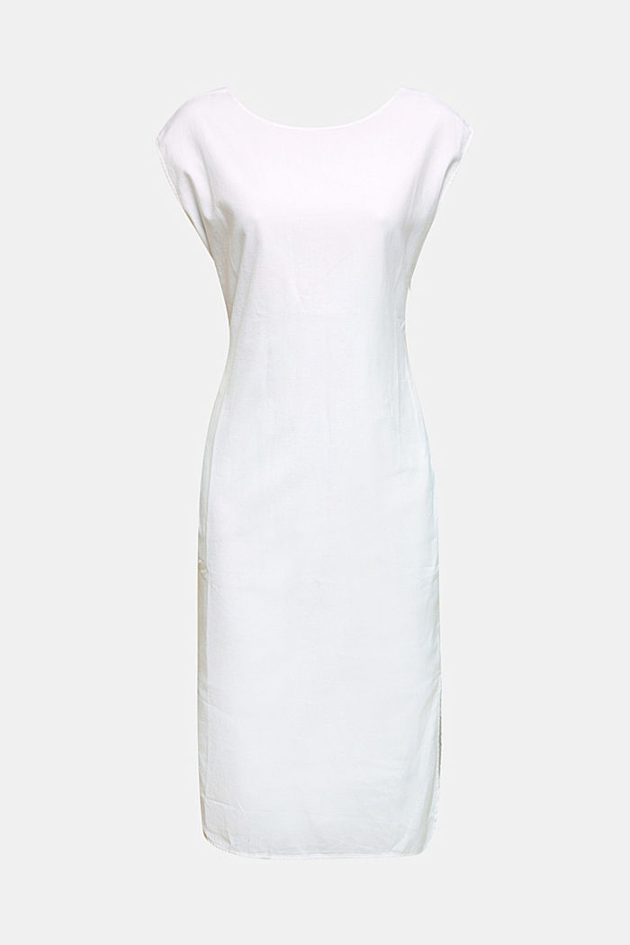 Cotton dress with a button placket, WHITE, detail image number 6