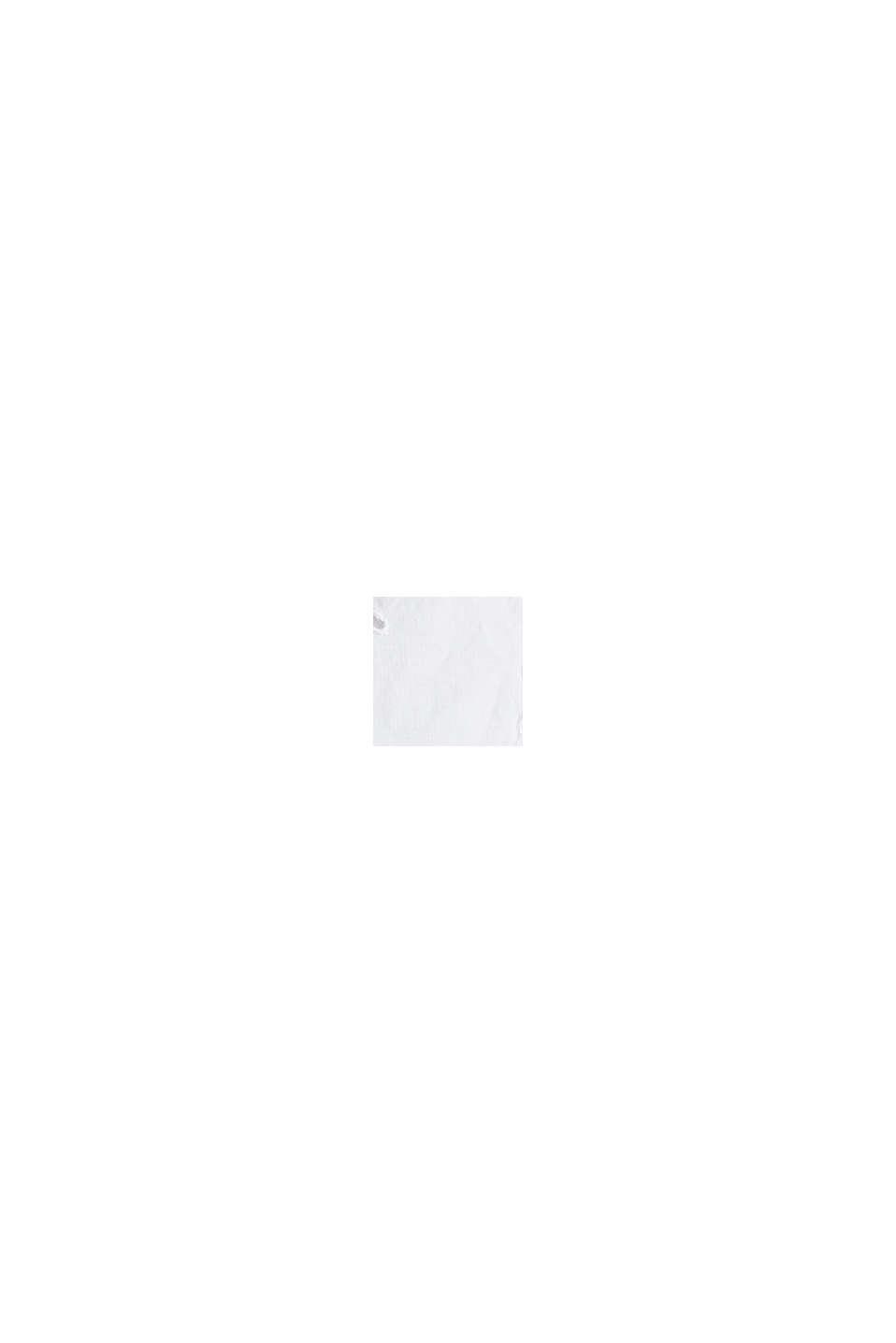 Hemdblusen-Kleid mit Lochstickerei, WHITE, swatch
