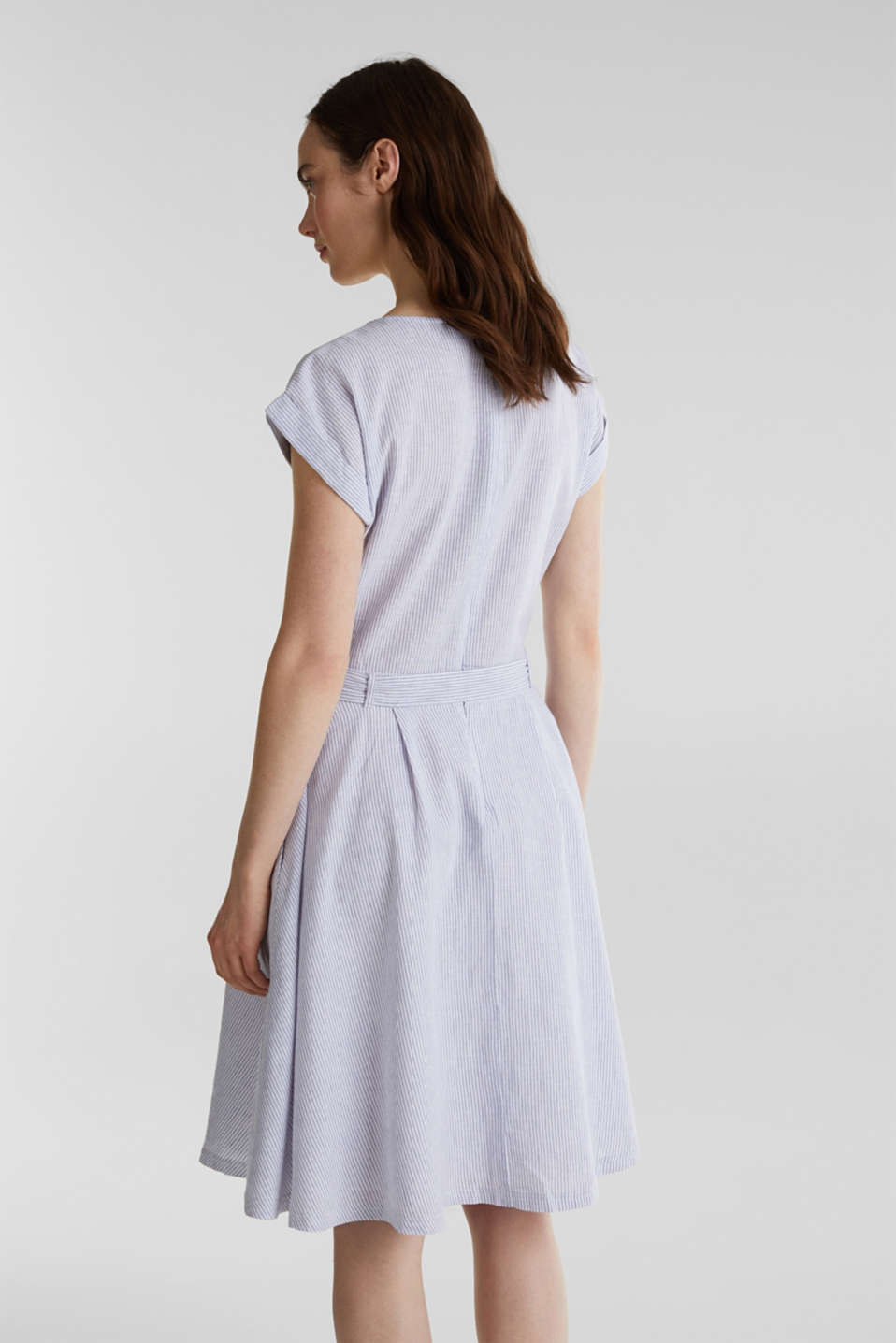 Linen blend: striped dress, LIGHT BLUE 4, detail image number 2