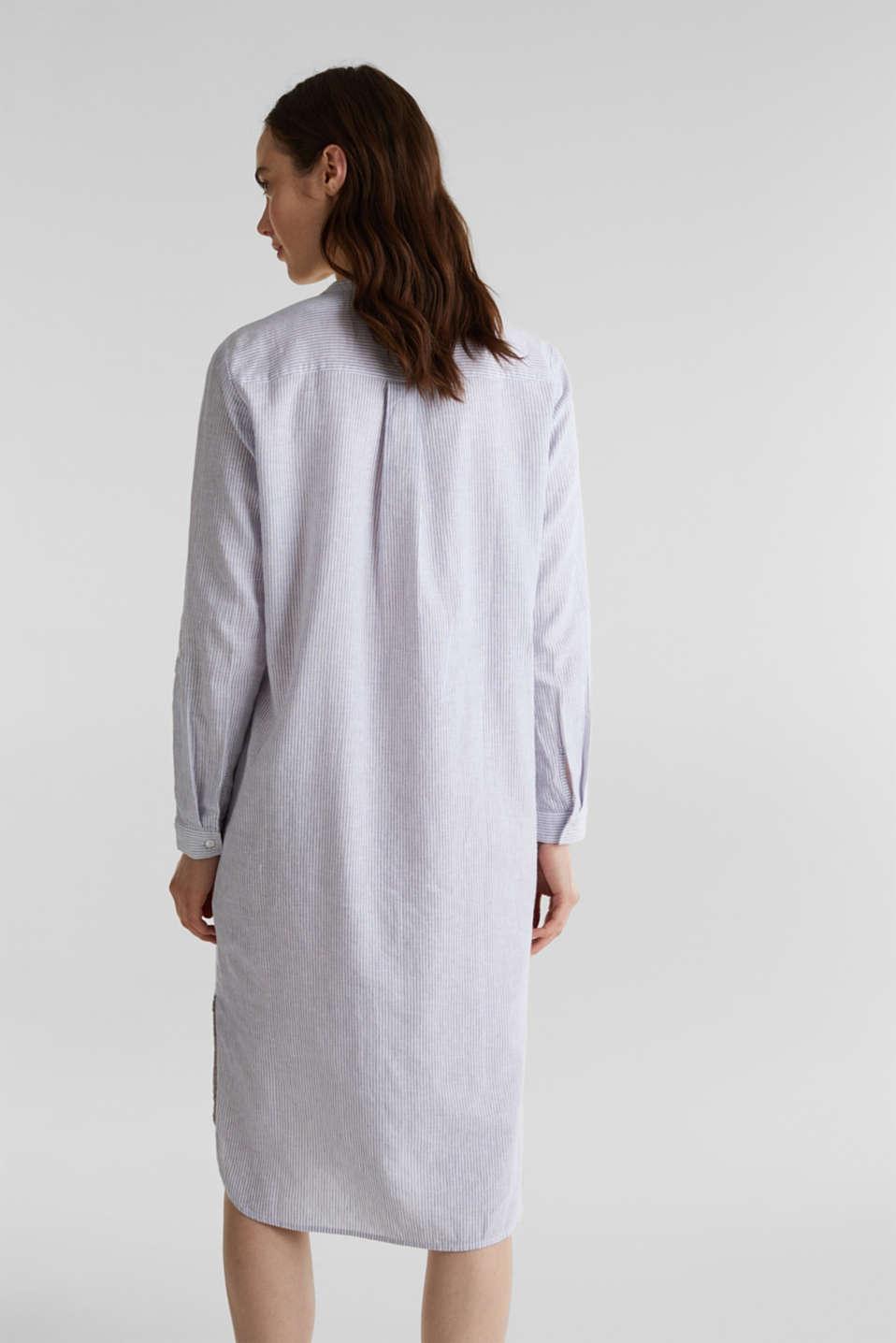 Linen blend: shirt dress, LIGHT BLUE 4, detail image number 2