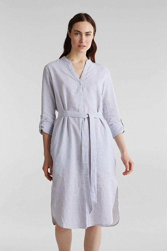 Linen blend: shirt dress, LIGHT BLUE, detail image number 5