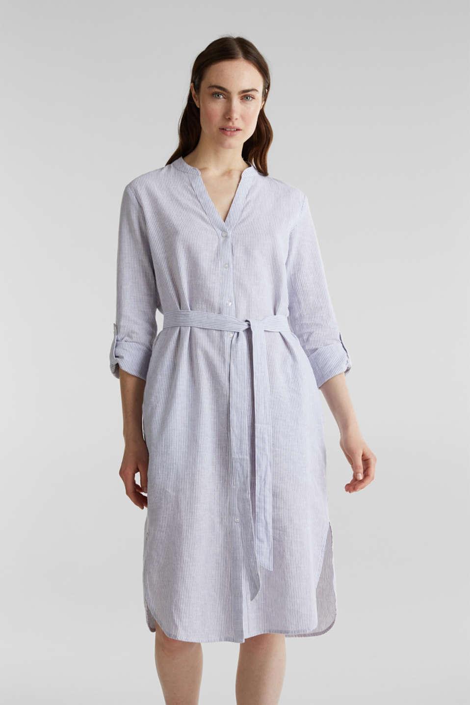 Linen blend: shirt dress, LIGHT BLUE 4, detail image number 5