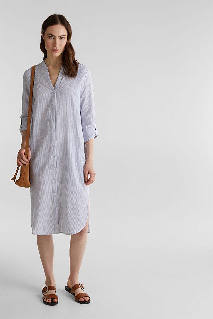 Linen blend: shirt dress, LIGHT BLUE, detail image number 1
