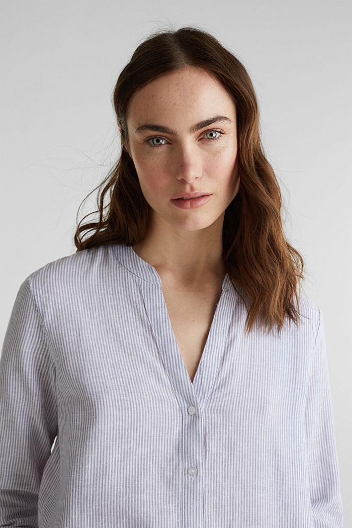 Linen blend: shirt dress, LIGHT BLUE, detail image number 3