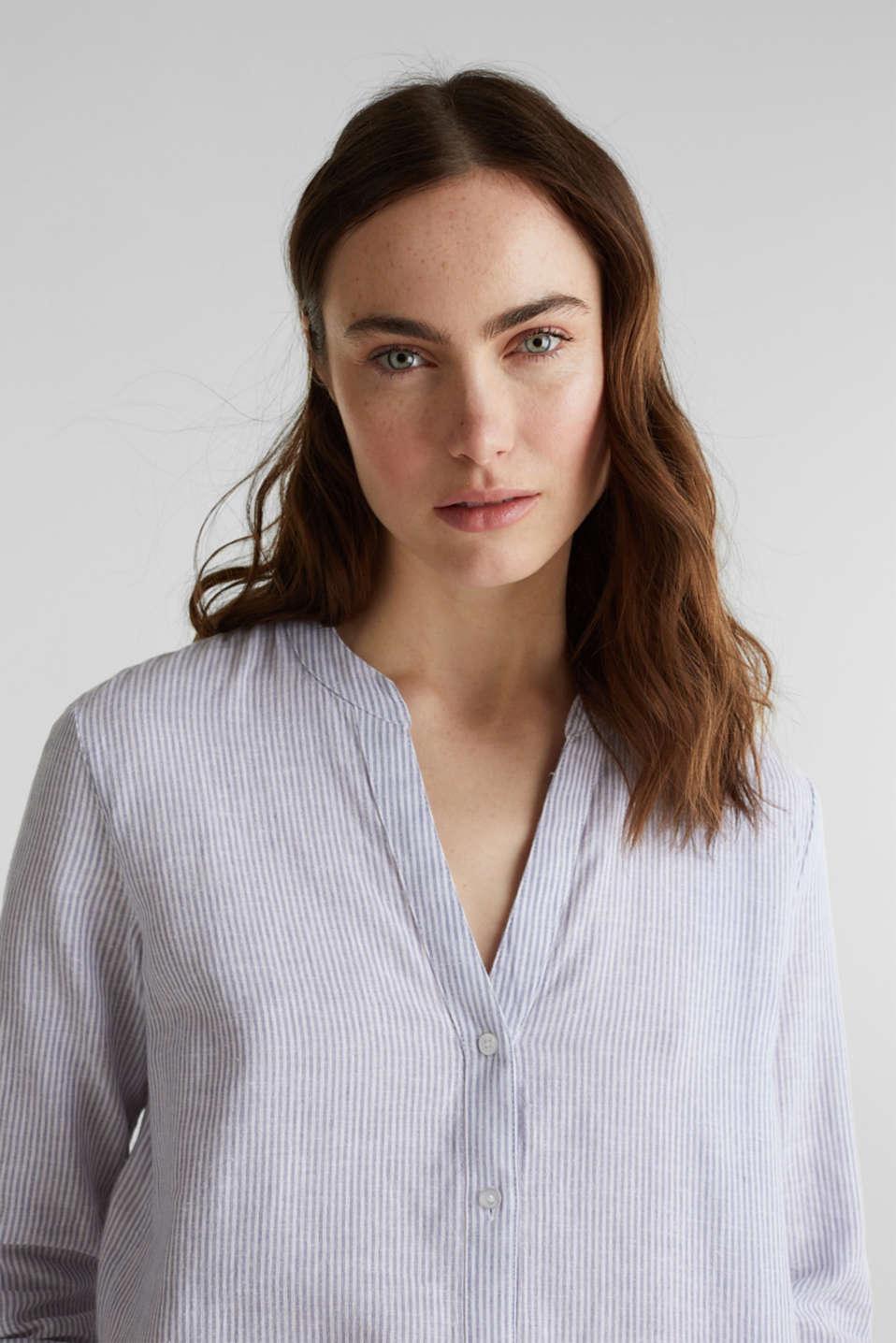 Linen blend: shirt dress, LIGHT BLUE 4, detail image number 3