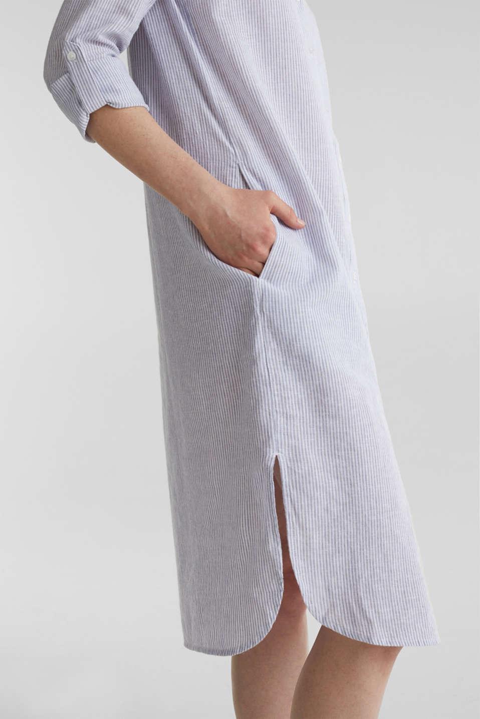 Linen blend: shirt dress, LIGHT BLUE 4, detail image number 6