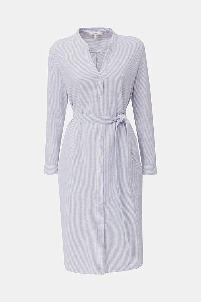 Linen blend: shirt dress, LIGHT BLUE, detail image number 8