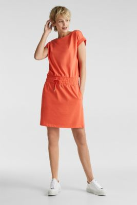 Jersey dress made of 100% organic cotton, CORAL 4, detail
