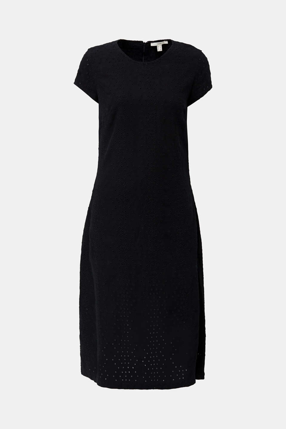 Made of TENCEL™: dress with broderie anglaise, BLACK RINSE, detail image number 6