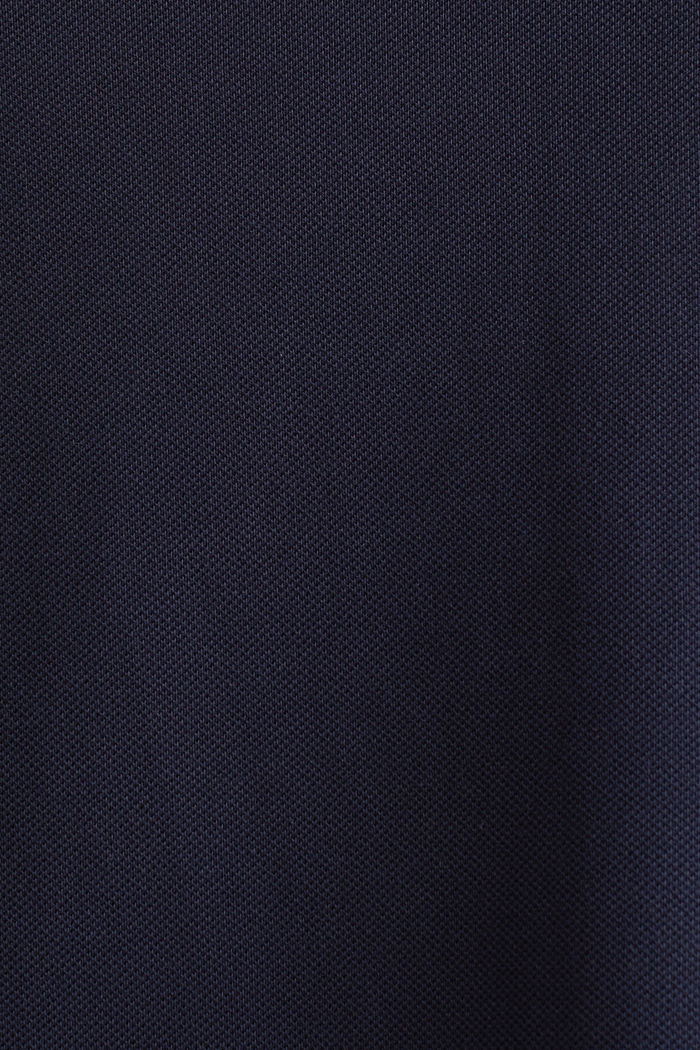 CURVY Polo-Kleid aus Piqué, NAVY, detail image number 3