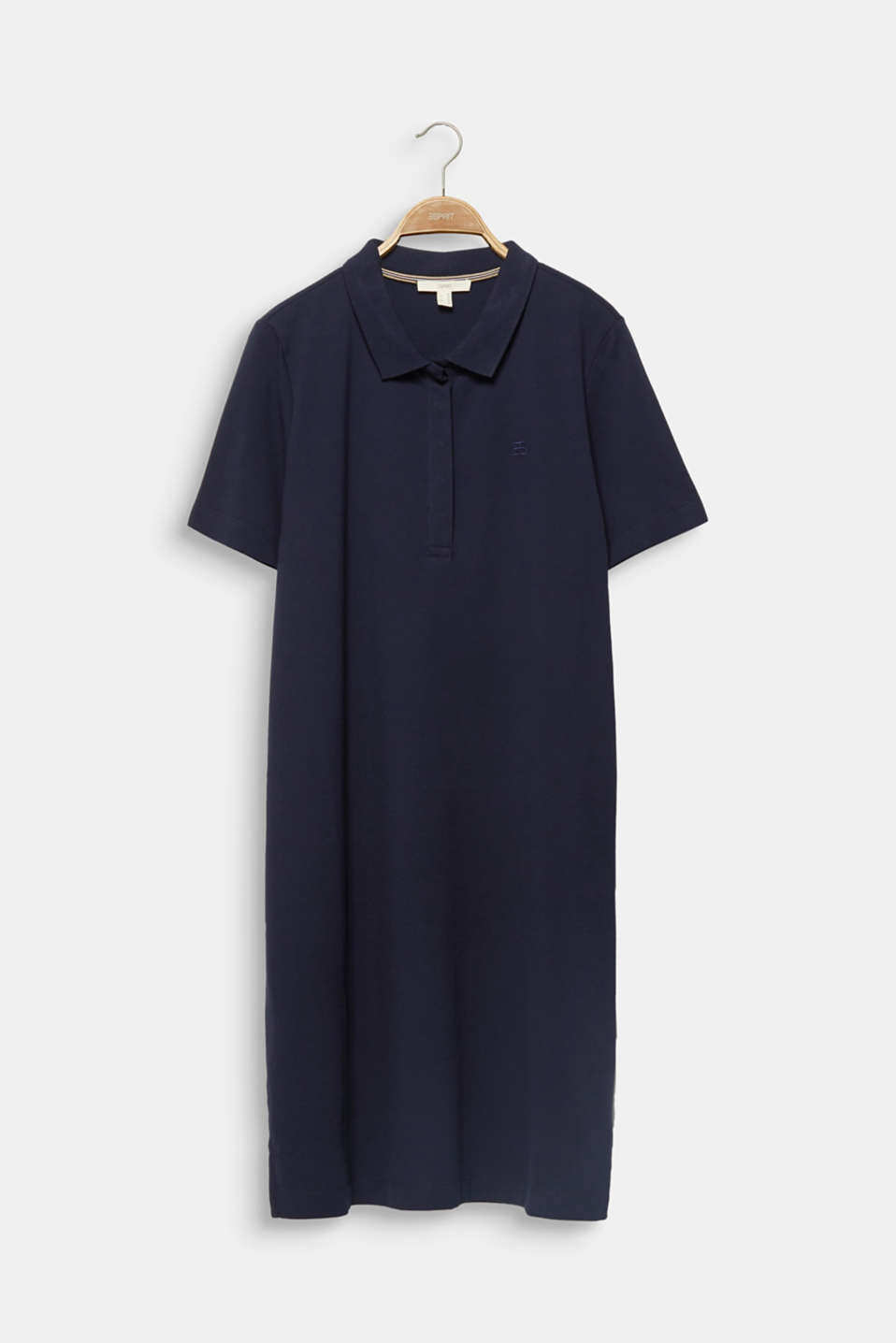 CURVY polo dress made of piqué, NAVY, detail image number 6