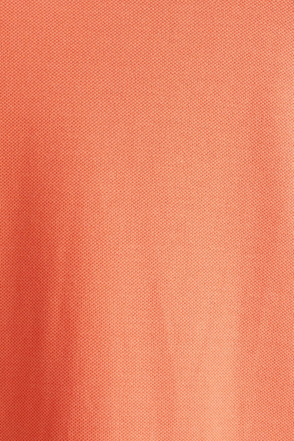 CURVY polo dress made of piqué, CORAL 4, detail image number 4