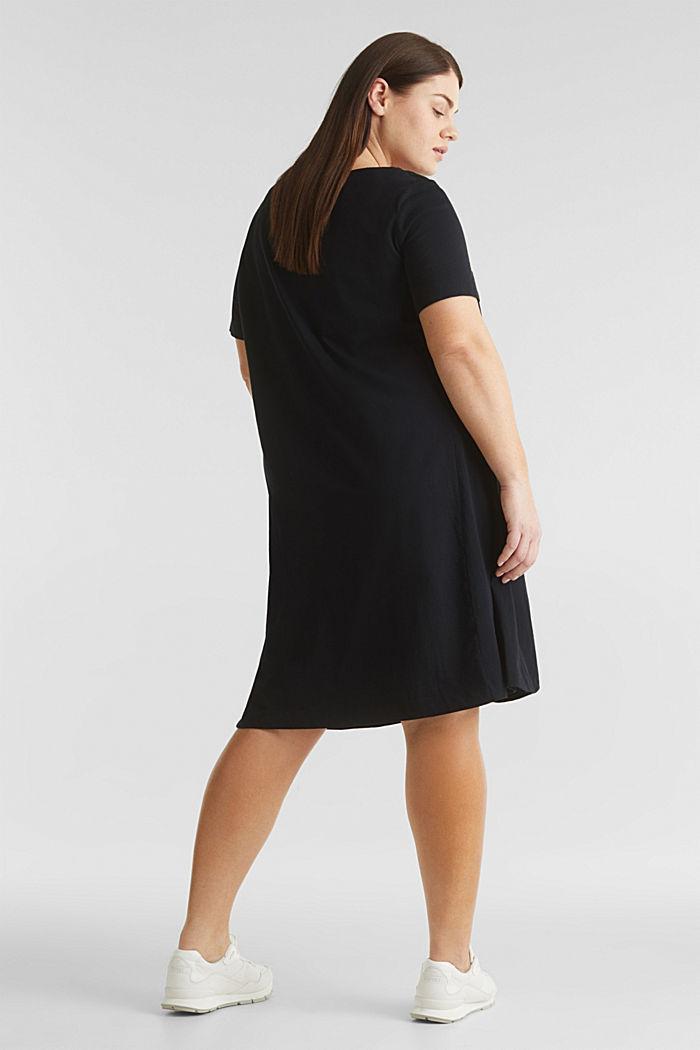 CURVY jersey jurk, 100% katoen, BLACK, detail image number 2