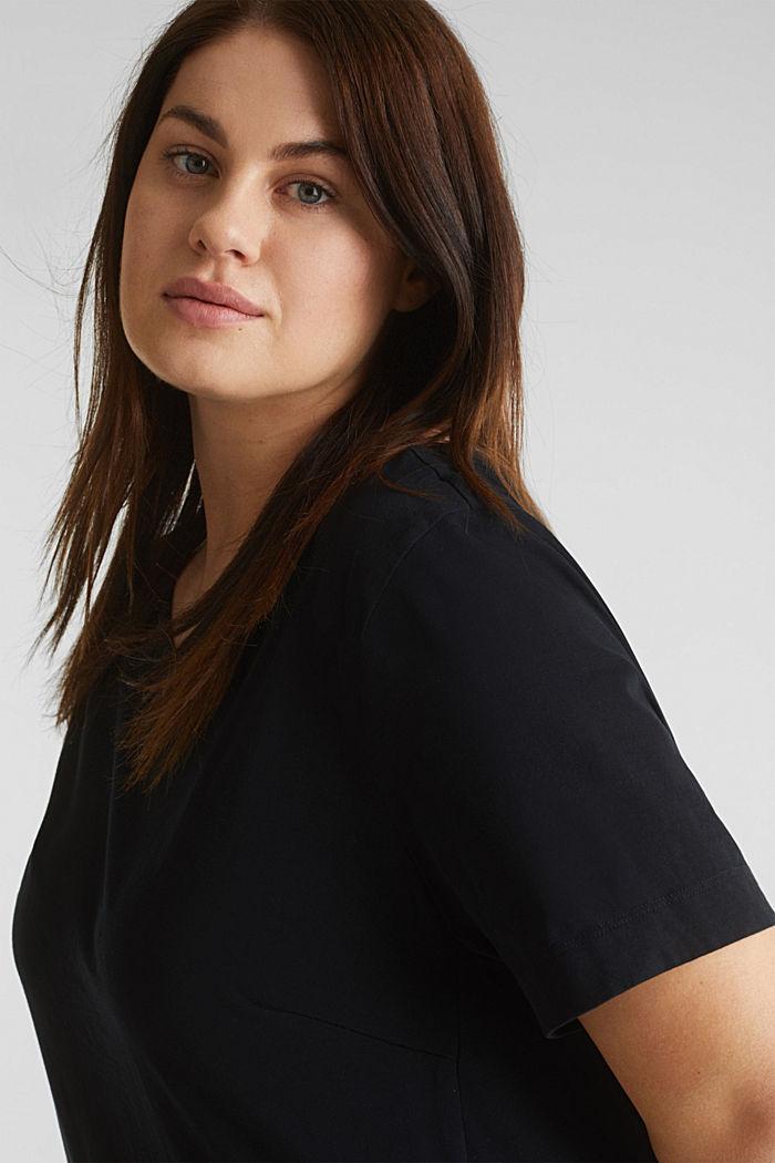CURVY jersey jurk, 100% katoen, BLACK, detail image number 5