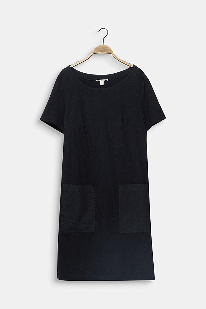 CURVY jersey jurk, 100% katoen, BLACK, detail image number 6