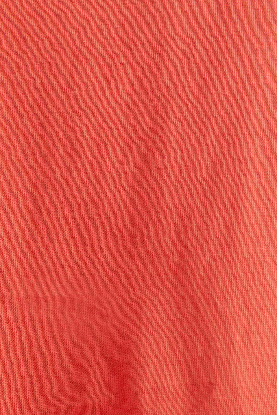 CURVY jersey dress made of 100% cotton, CORAL, detail image number 4
