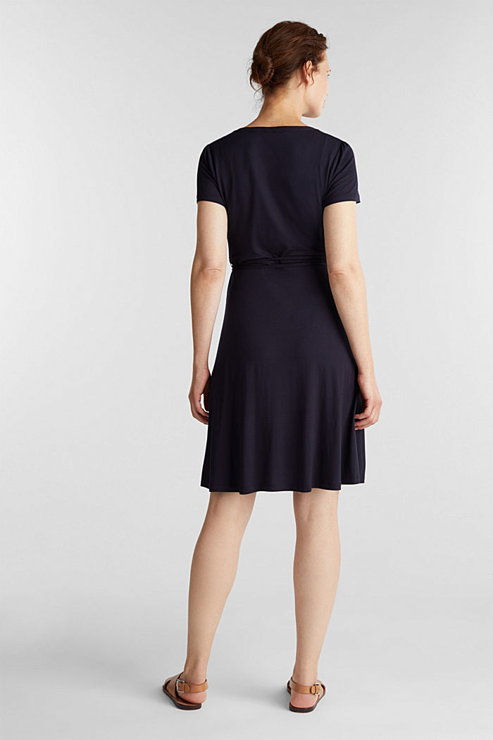 Stretch jersey wrap dress, NAVY, detail image number 2