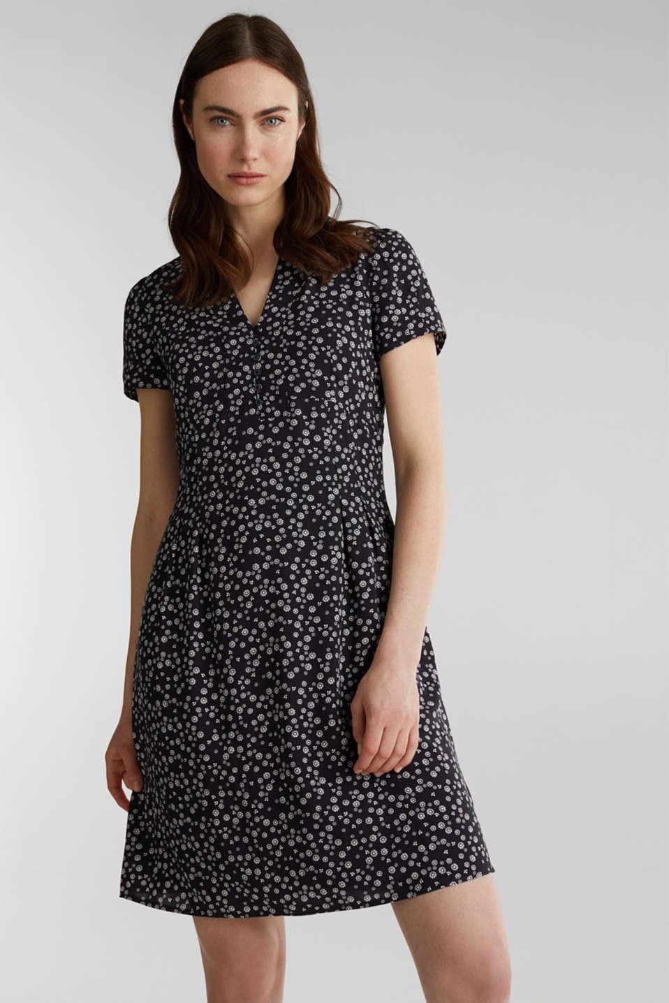 Shirt dress made of LENZING™ ECOVERO™, NAVY 4, detail image number 0