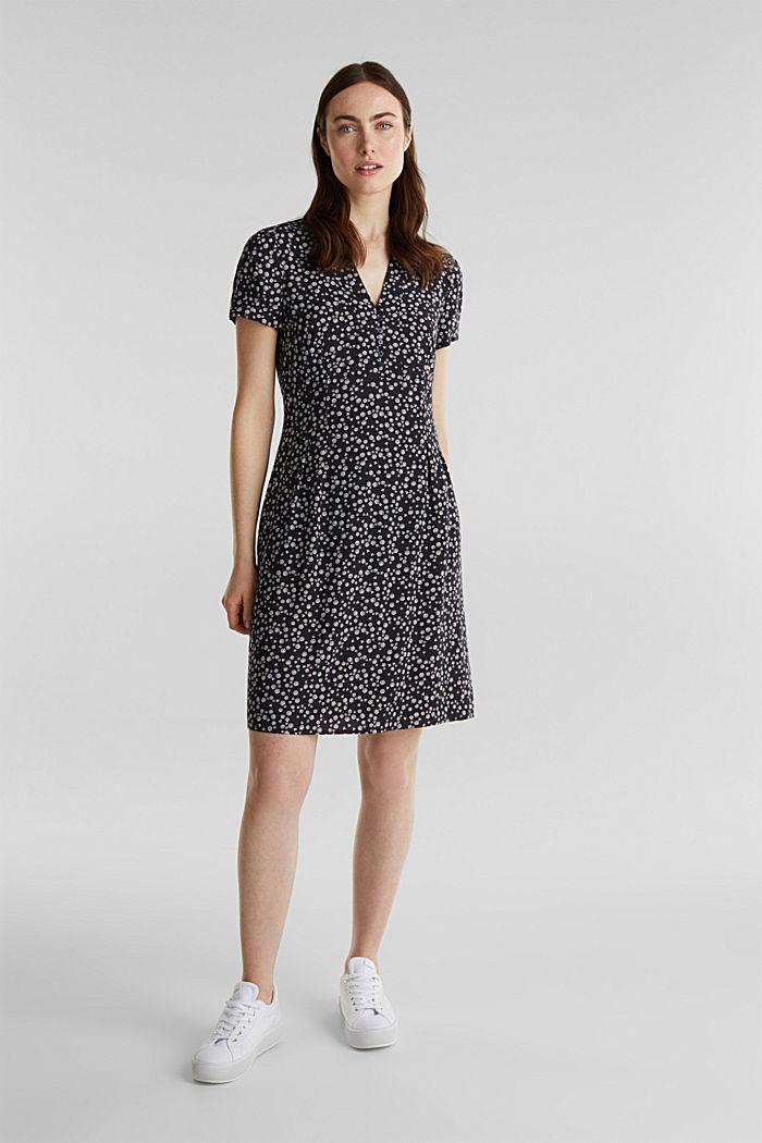Print-Kleid, LENZING™ ECOVERO™, NAVY, detail image number 1