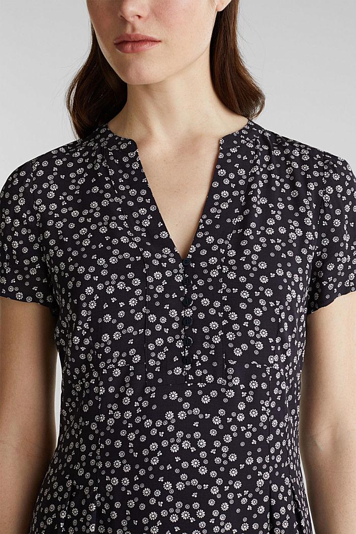 Print-Kleid, LENZING™ ECOVERO™, NAVY, detail image number 3
