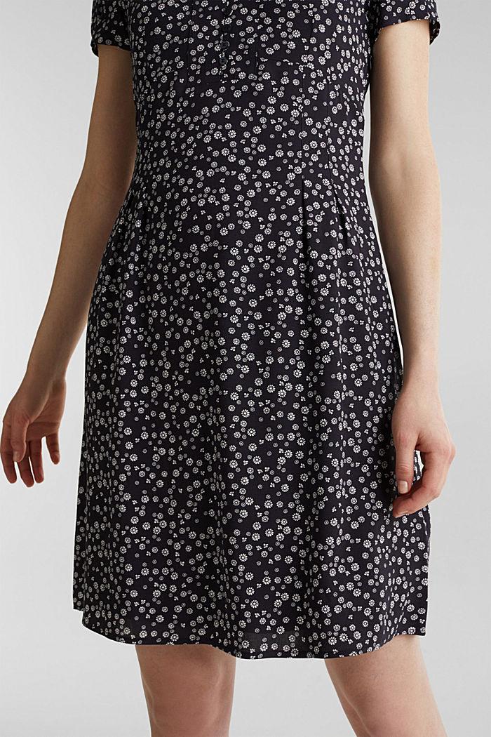 Print-Kleid, LENZING™ ECOVERO™, NAVY, detail image number 5