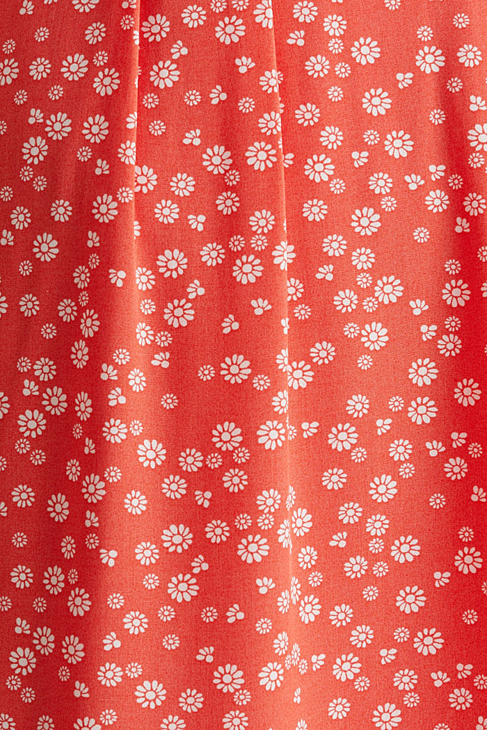 Printed dress made of LENZING™ ECOVERO™, CORAL, detail image number 4