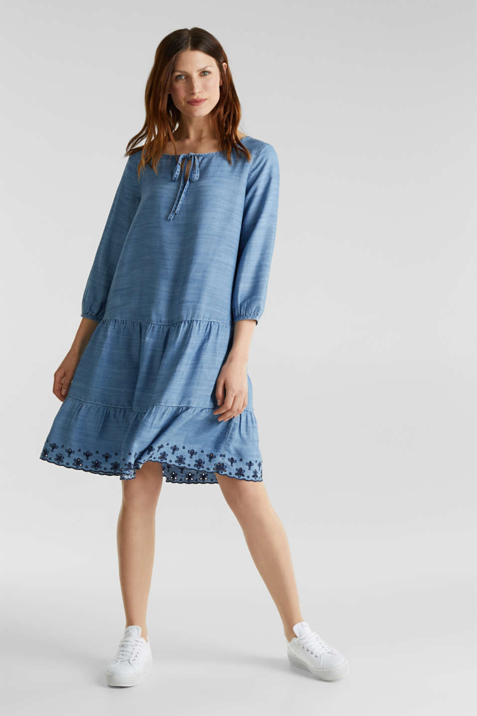 Esprit - Made of TENCEL™: embroidered dress