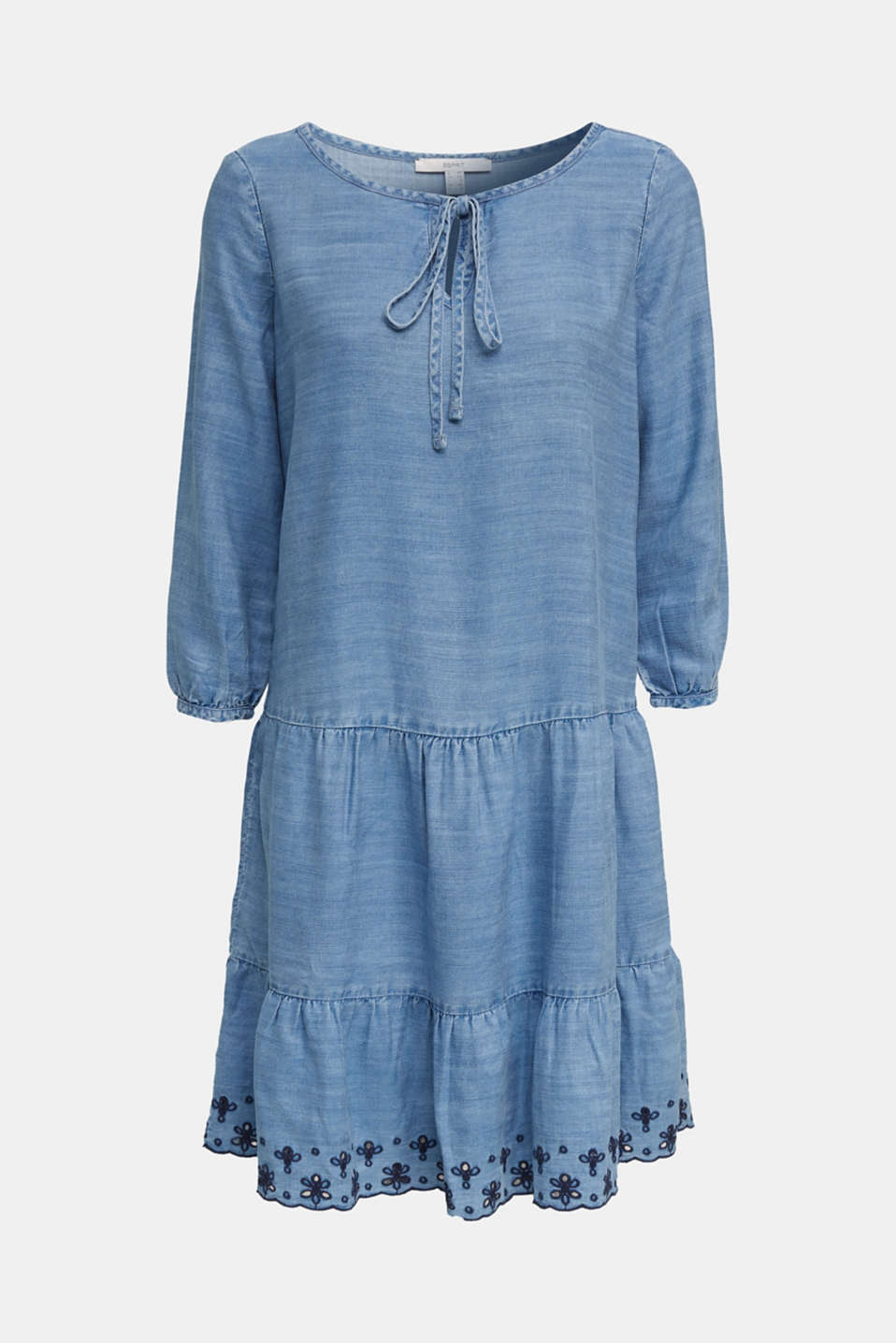 Made of TENCEL™: embroidered dress, BLUE MEDIUM WASH, detail image number 5