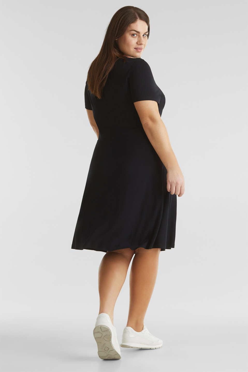 CURVY stretch jersey dress with a V-neckline, BLACK, detail image number 2