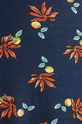 CURVY stretch jersey dress with a print, NAVY, detail