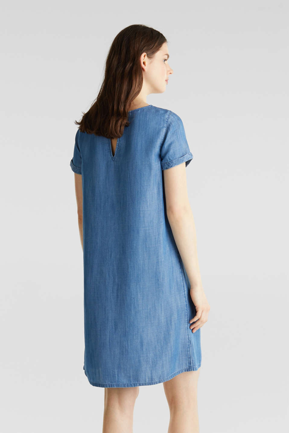 Made of TENCEL™: A-line denim dress, BLUE MEDIUM WASH, detail image number 2