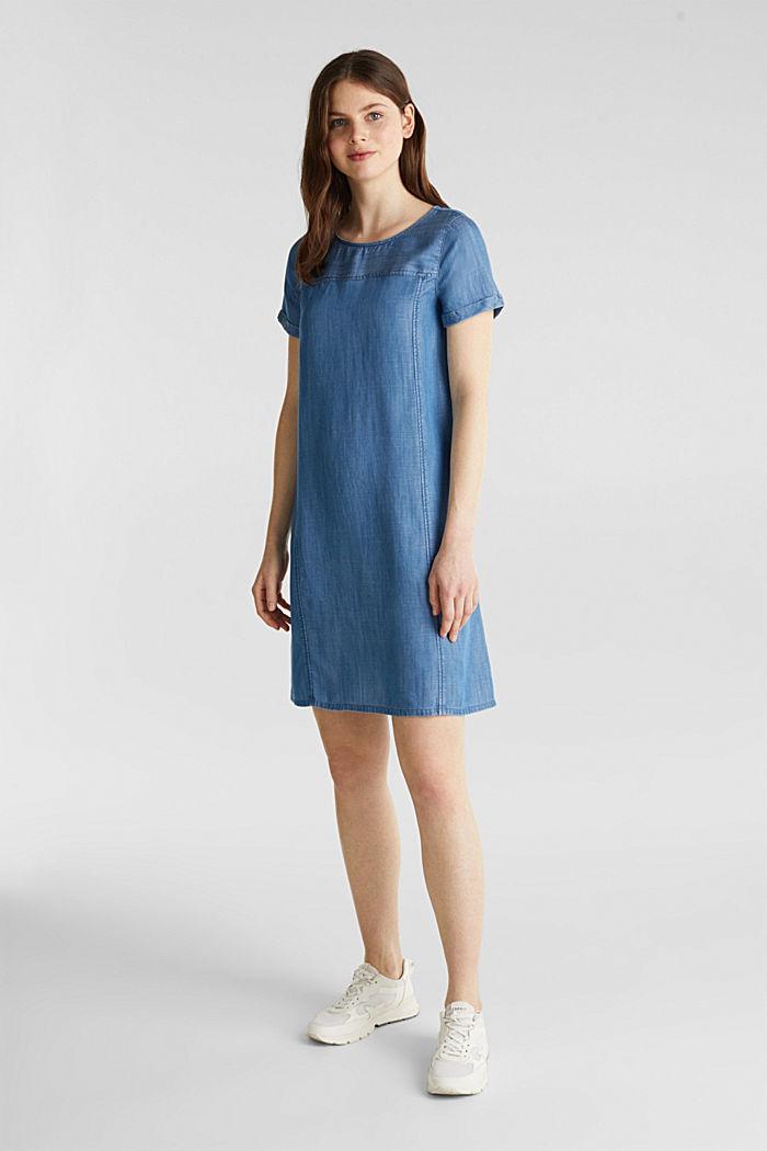 Made of TENCEL™: A-line denim dress, BLUE MEDIUM WASHED, detail image number 4