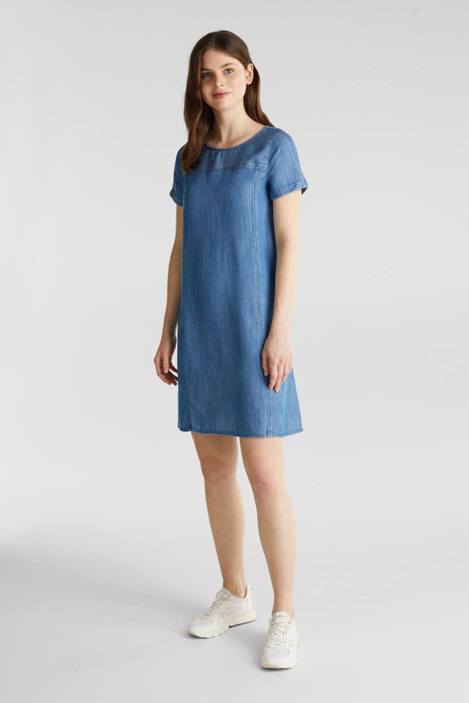 Made of TENCEL™: A-line denim dress, BLUE MEDIUM WASH, detail image number 4