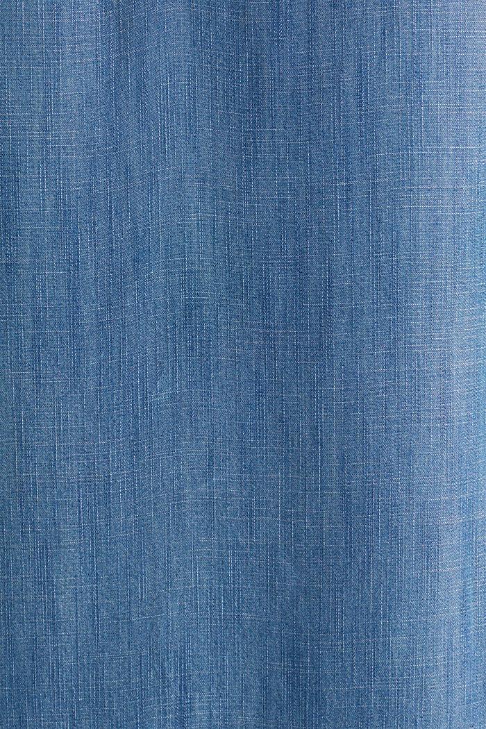 Made of TENCEL™: A-line denim dress, BLUE MEDIUM WASHED, detail image number 3