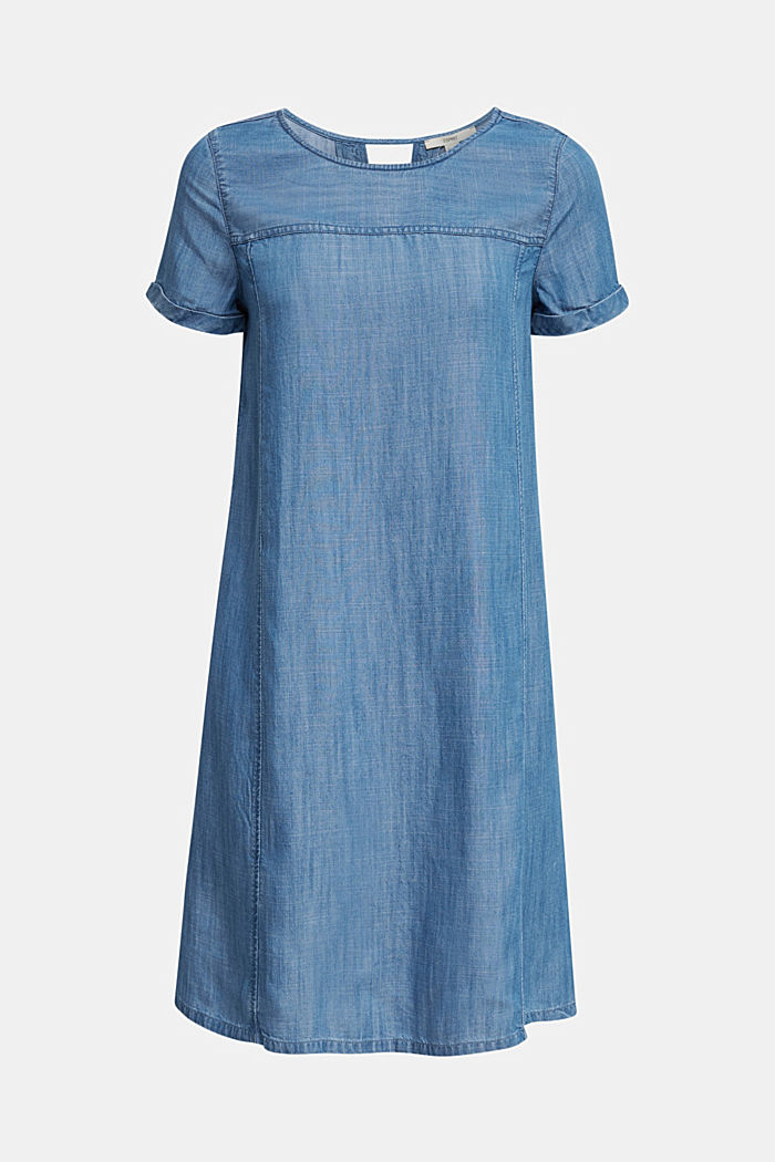 Made of TENCEL™: A-line denim dress, BLUE MEDIUM WASHED, detail image number 6