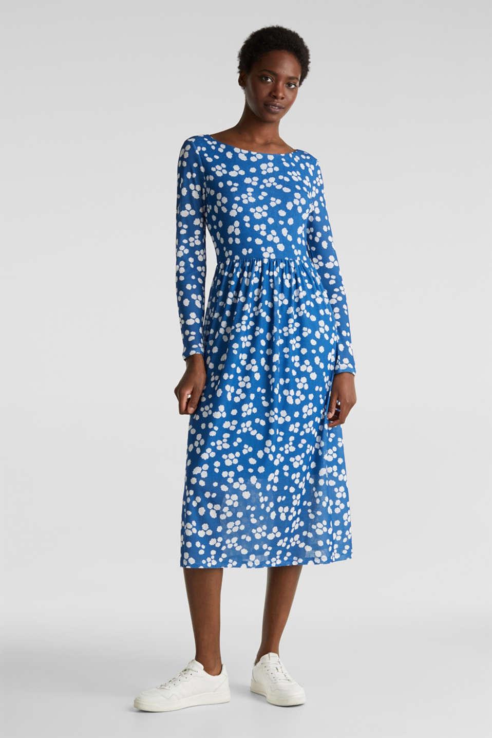 Crêpe jersey dress, BRIGHT BLUE, detail image number 0