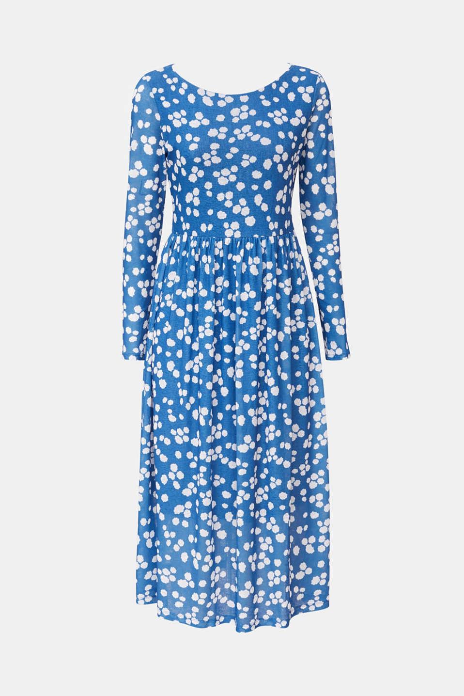 Crêpe jersey dress, BRIGHT BLUE, detail image number 5