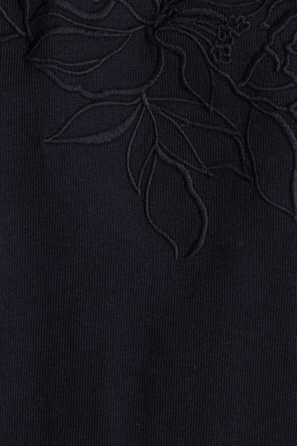 Jersey dress with mesh and embroidery, BLACK, detail image number 4