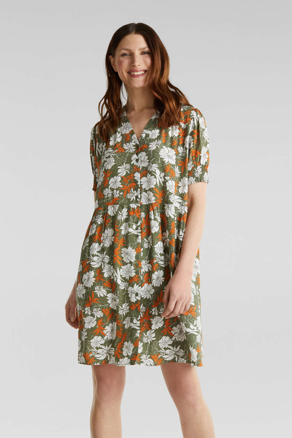 Esprit - Made of LENZING™ ECOVERO™: printed dress