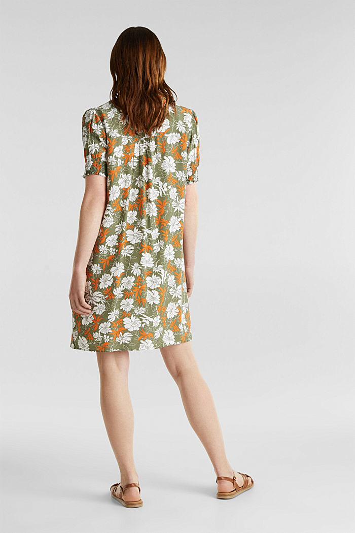 Made of LENZING™ ECOVERO™: printed dress, KHAKI GREEN, detail image number 2