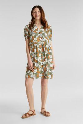 Made of LENZING™ ECOVERO™: printed dress, KHAKI GREEN 4, detail