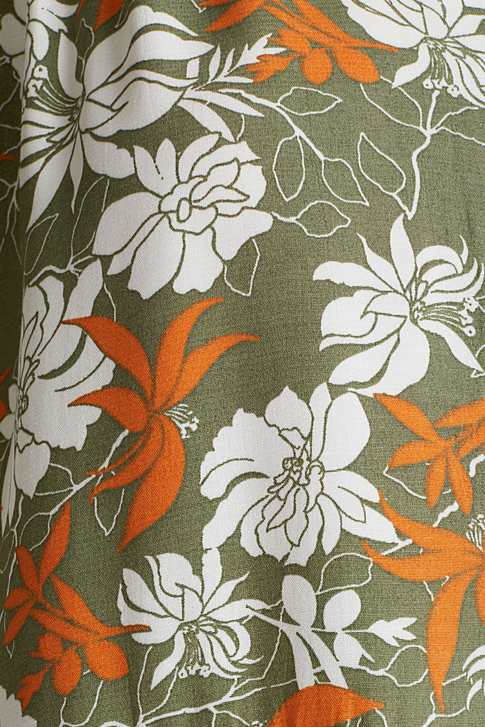 Made of LENZING™ ECOVERO™: printed dress, KHAKI GREEN, detail image number 4