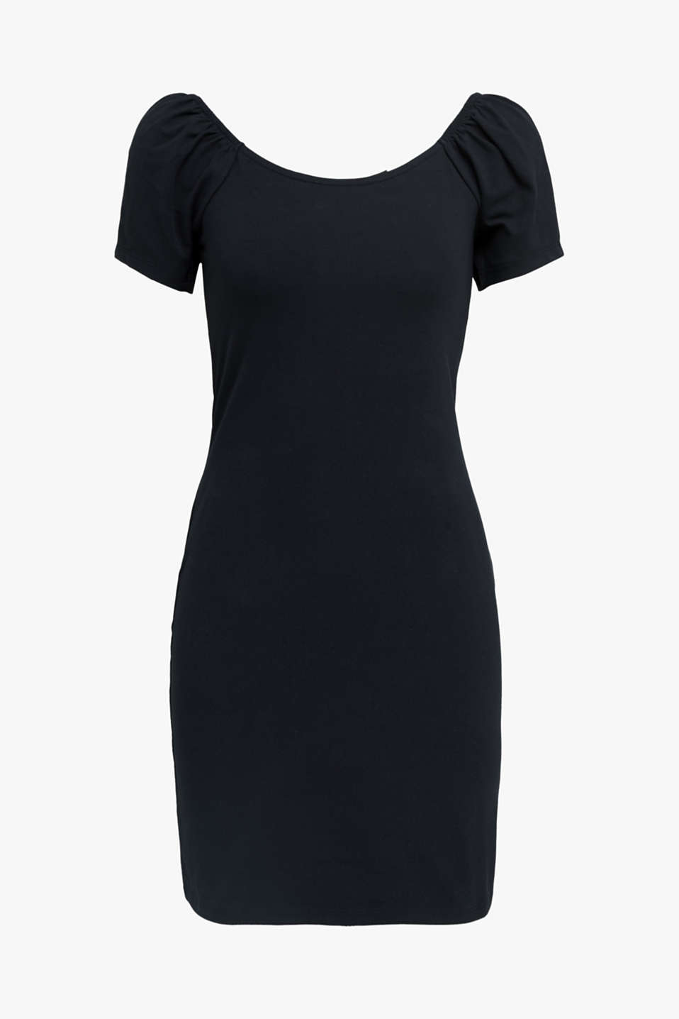 Carmen dress made of stretch jersey, BLACK, detail image number 5