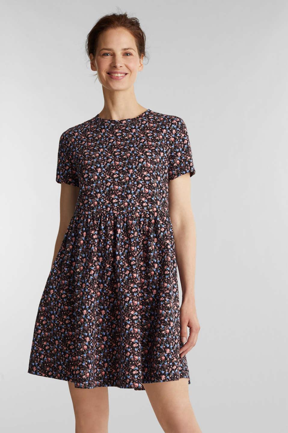 Babydoll dress mad of 100% organic cotton, BLACK 3, detail image number 0