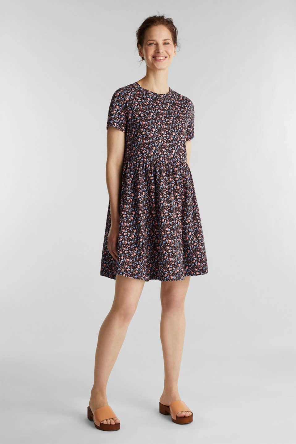 Babydoll dress mad of 100% organic cotton, BLACK 3, detail image number 1