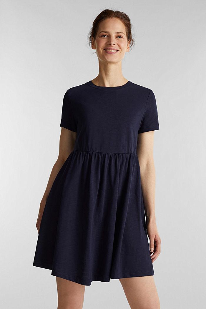 Vestido de estilo camisón, 100% algodón ecológico, NAVY, detail image number 0