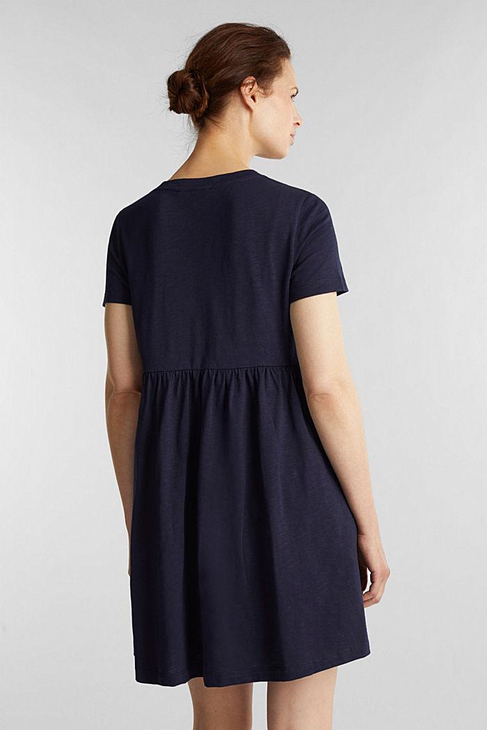Vestido de estilo camisón, 100% algodón ecológico, NAVY, detail image number 2